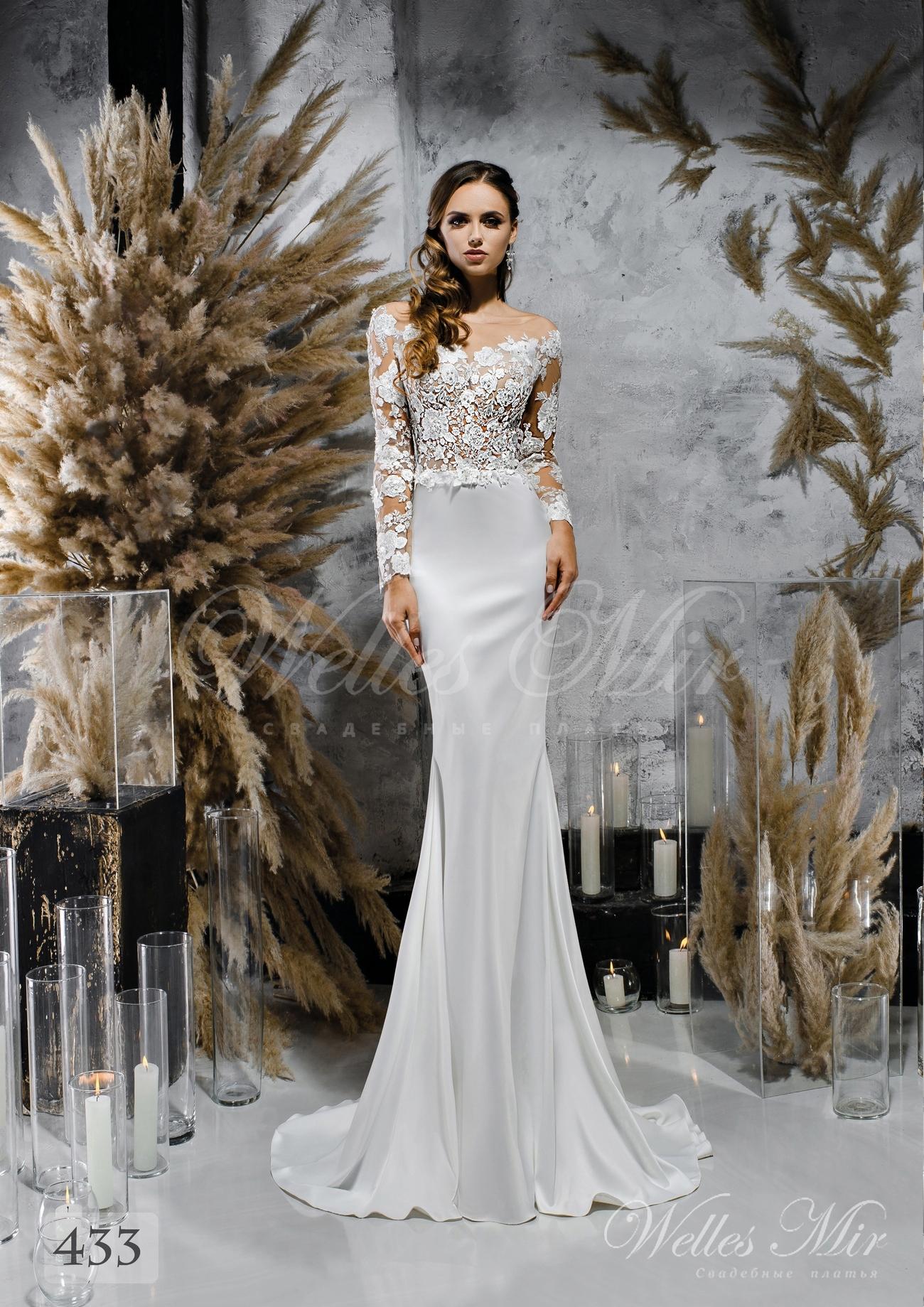 Прямое атласное свадебное платье купить оптом