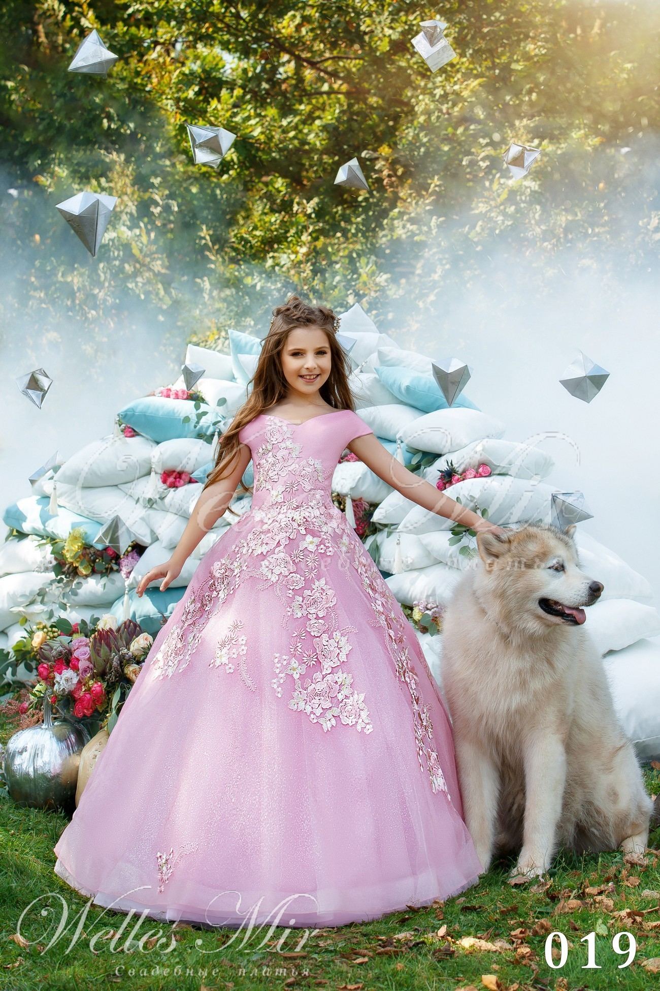 Рожева пишна сукня для дівчинки
