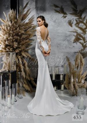 Прямое атласное свадебное платье купить оптом-2
