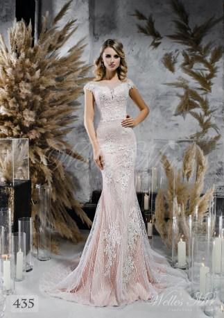 Кофейное прямое свадебное платье оптом-1