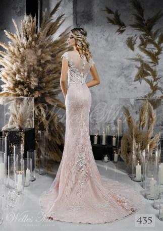 Кофейное прямое свадебное платье оптом-2