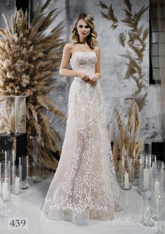 Cвадебное платье-бюстье оптом-1