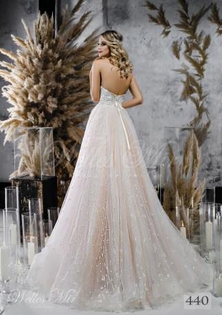 Пышное свадебное платье а-силуэта оптом-2