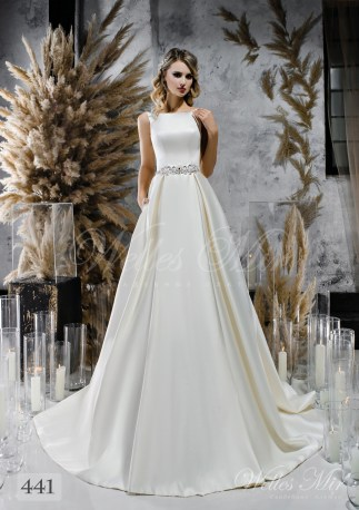 Атласное пышное свадебное платье оптом-1