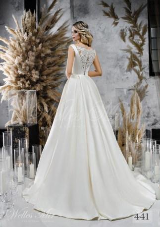 Атласное пышное свадебное платье оптом-2