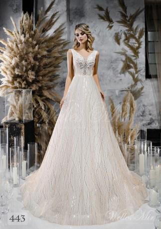 кремовое свадебное платье с открытой спиной оптом-1