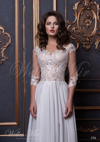 Straight wedding dress with appliques-2