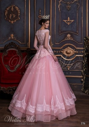 Bright pink wedding dress-3