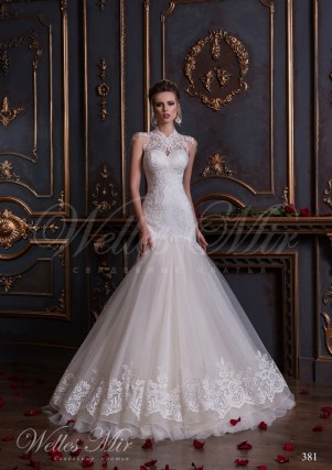 Mermaid wedding dress with lace 381