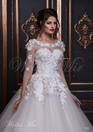 Wedding dress with V-neckline at the back-2