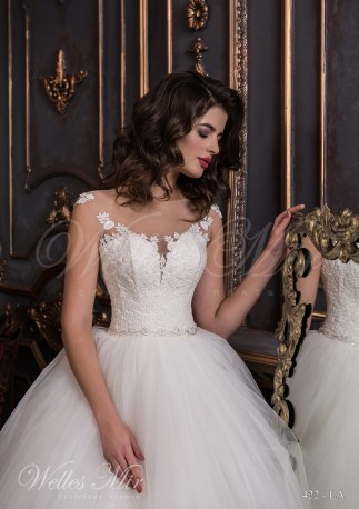 Wedding dress with lace corset-2