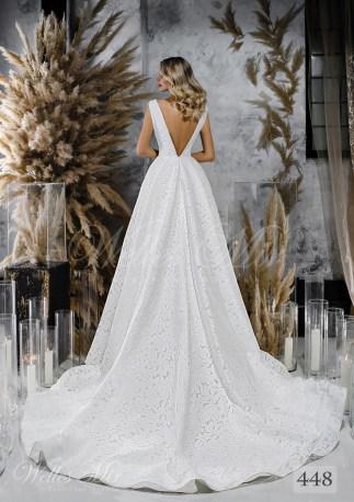 Свадебное платье с расколотым корсетом и пышной юбкой оптом-2