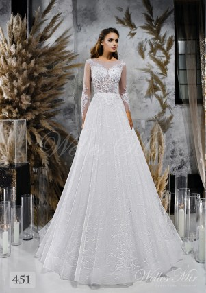Wedding dresses with textured skirt wholesale from Wellesmir 451