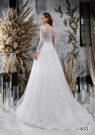 Wedding dresses with textured skirt wholesale from Wellesmir-2