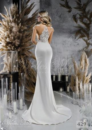 Satin  slim silhouette wedding dress wholesale-2