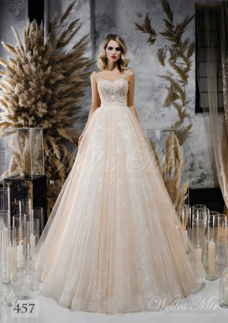 Wedding dress shade cappuccino from WellesMir-1