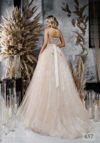 Wedding dress shade cappuccino from WellesMir-2