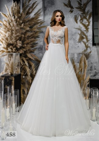 Wedding dress A-line with a light corset-1