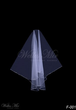 Two-layer bridal veil F-001
