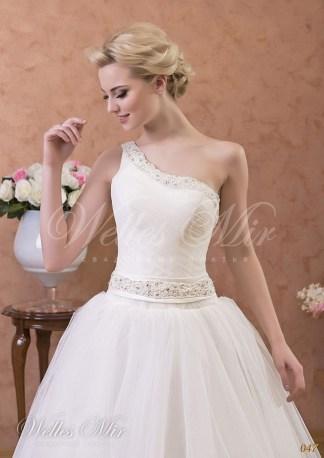 Свадебное платье на одно плечо-2
