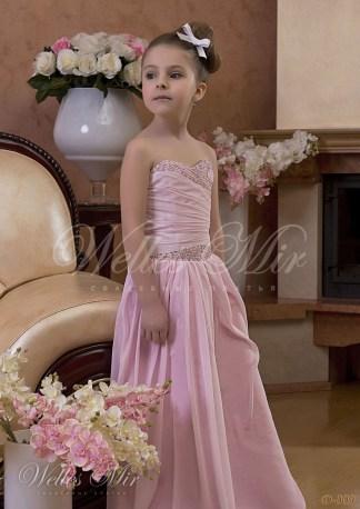 Детское розовое платье-2