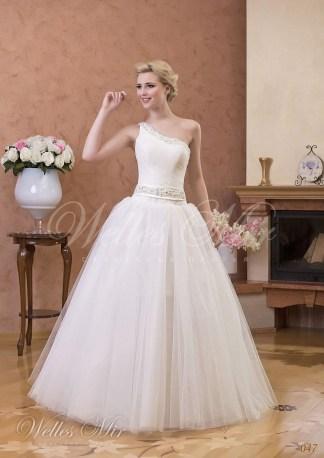 Свадебное платье на одно плечо-1