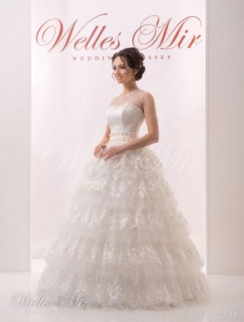 Cвадебное платье с воланами-1