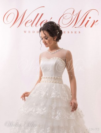 Ruffle wedding dress-2