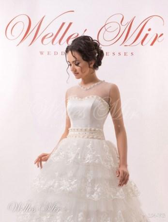 Cвадебное платье с воланами-2