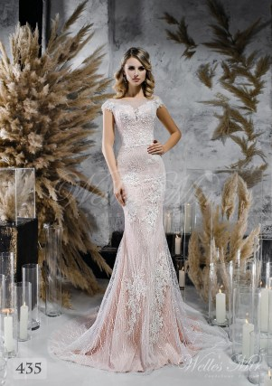 Coffee colored straight cut  wedding dress on wholesale-1