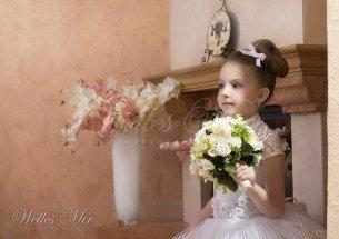 Свадебное детское платье-4