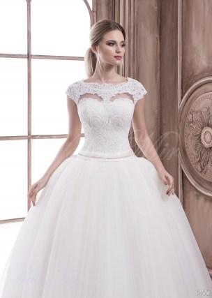 Свадебное платье с фальш декольте-2