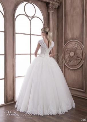 Свадебное платье с фальш декольте-3