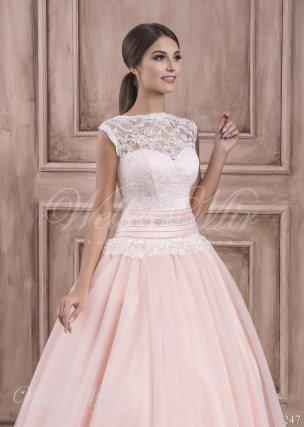 Розовое свадебное платье-2
