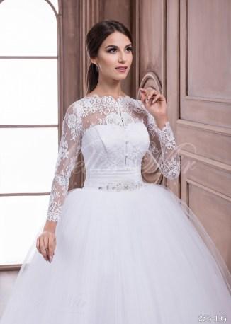 Свадебное платье с длинными прозрачными рукавами-2