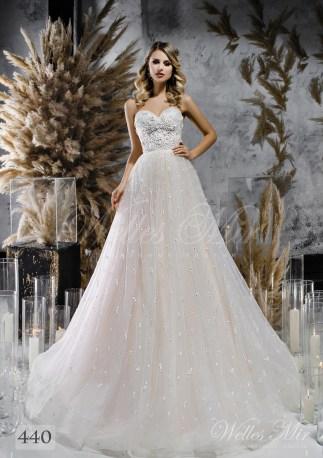 Пышное свадебное платье а-силуэта оптом-1