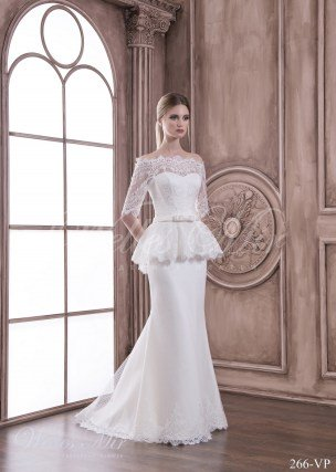 Wedding dress with a Basque 266-VP