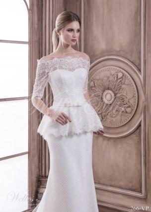 Купить свадебное платье с баской-2