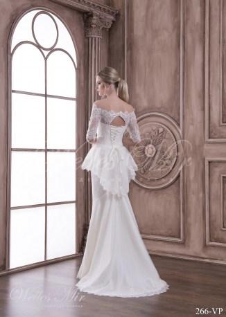 Купить свадебное платье с баской-3