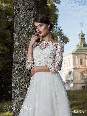 Свадебное платье с открытыми плечами-2