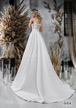 Voluminous white wedding dress with belt on wholesale-2