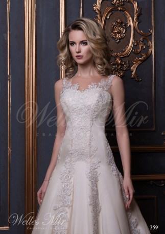 Гипюровое свадебное платье годе-2