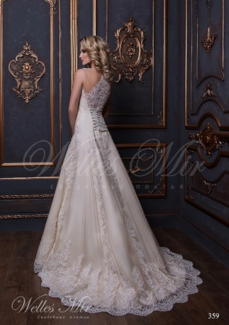 Гипюровое свадебное платье годе-3