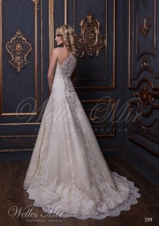 Godet silhouette guipure wedding dress-3