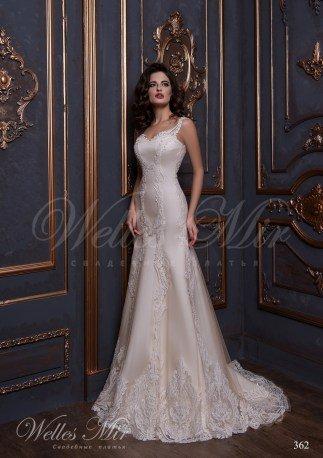 Свадебное платье покрытое гипюром-1
