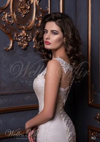 Свадебное платье покрытое гипюром-4