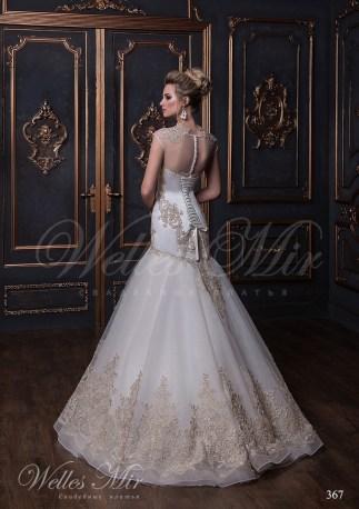 Свадебное платье из шифона c вышивкой-3