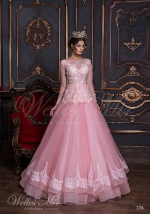 Ярко-розовое свадебное платье-1