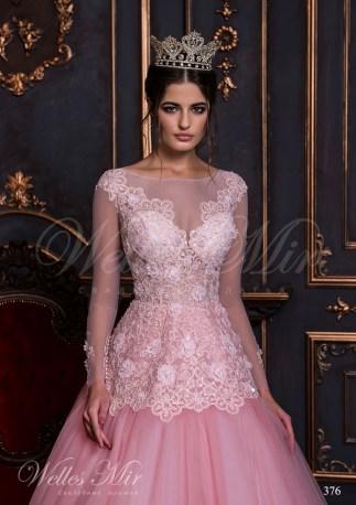 Bright pink wedding dress-2