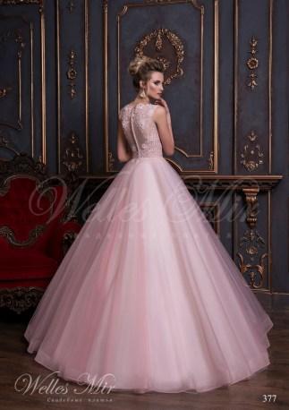 Свадебное платье с закрытой шеей и прозрачным корсетом-3